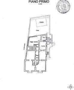 Planimetria 1° Piano - Villa a Leni - Isola di Salina, Eolie